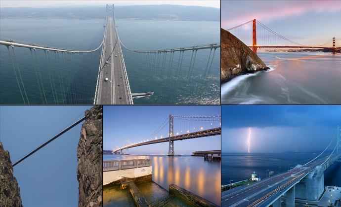 Самые длинные и высокие мосты (45 фото)