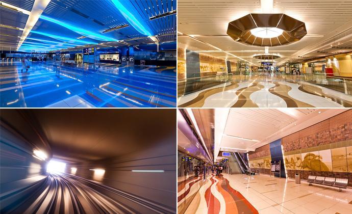 Метрополитен в Дубаи (39 фото)