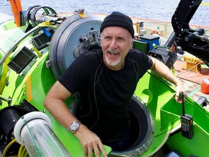 "фото ""Джеймс Кэмерон в батискафе Deepsea Challenger"""
