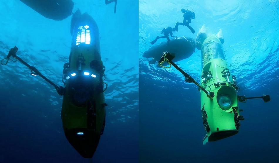 """фото """"Погружение Deepsea Challenger в Марианскую впадину"""""""