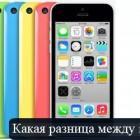 Чем отличается iphone 5c от 5s