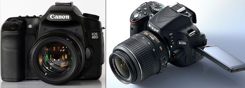 Зеркальные фотоаппараты nikon и canon