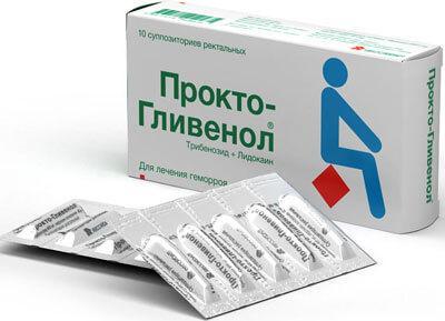 Прокто-Гливенол - недорогие и эффективные свечи от геморроя