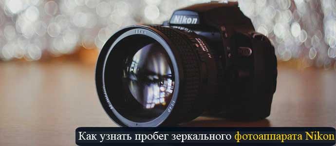 Проверяем пробег фотоаппарата Nikon
