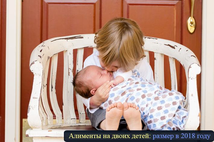 """фото """"Алименты на двоих детей: размер в 2018 году"""""""
